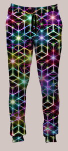 Men's Joggers, Alexander Shulgin, 2CB, Psychedelic, Rainbow, Trippy, Psychonaut, EDM, Electric Daisy Carnival, Music Festivals