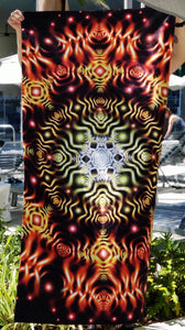 Psychedelic Vibrant Fade-Resistant Beach Towel