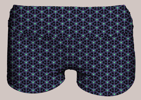 Tetra EQ Yoga Shorts - Tetramode® | Psy Styles. Men & Womens Psychedelic Tops & Bottoms