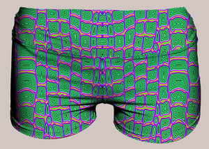 Reptilian Yoga Shorts - Tetramode® | Psy Styles. Men & Womens Psychedelic Tops & Bottoms