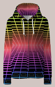 LoFi Psychedelic Womens Designer Hoodie - Tetramode® | Psy Styles. Men & Womens Psychedelic Tops & Bottoms
