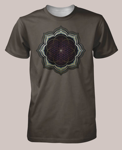 Celestial Bloom Men's Signature Shirt - Tetramode® | Psy Styles. Men & Womens Psychedelic Tops & Bottoms