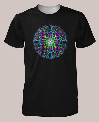 Technosphere Men's Signature Shirt - Tetramode® | Psy Styles. Men & Womens Psychedelic Tops & Bottoms