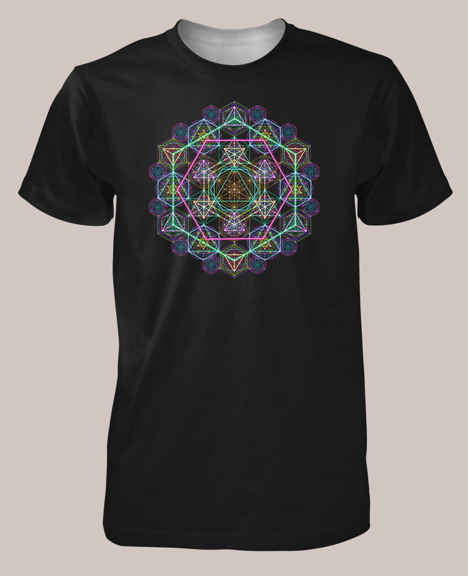 Hyper Geometry Men's Signature Shirt - Tetramode® | Psy Styles. Men & Womens Psychedelic Tops & Bottoms