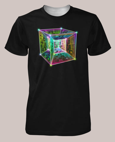 Tesseract Men's Signature Shirt - Tetramode® | Psy Styles. Men & Womens Psychedelic Tops & Bottoms