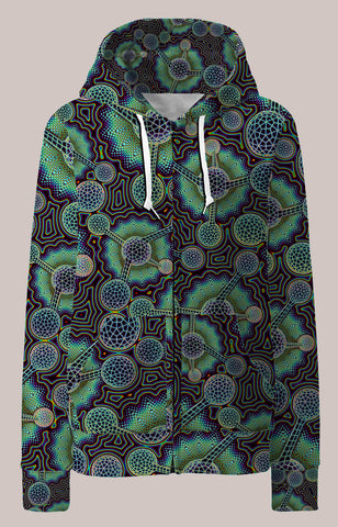 Microverse Psychedelic Womens Designer Hoodie