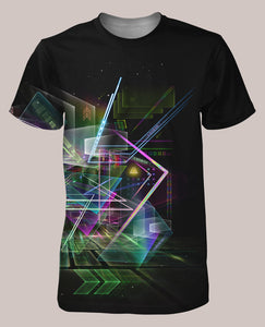 Virtual Reality Men's Psyde Shirt - Tetramode® | Psy Styles. Men & Womens Psychedelic Tops & Bottoms