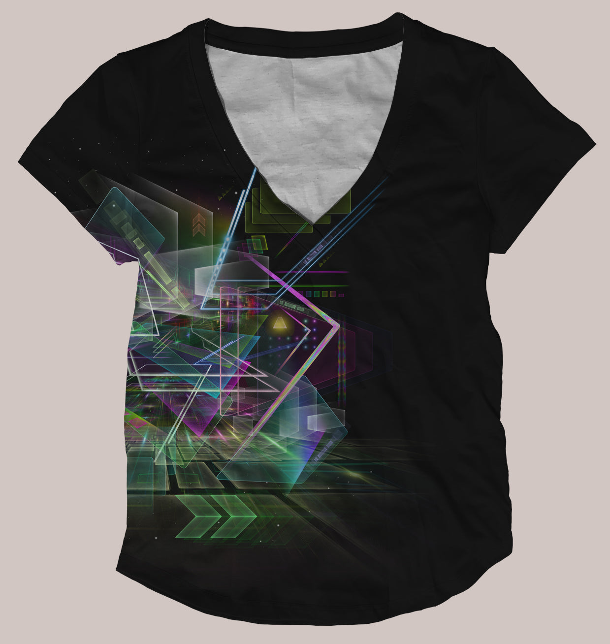 Virtual Reality Women's Psyde Shirt - Tetramode® | Psy Styles. Men & Womens Psychedelic Tops & Bottoms