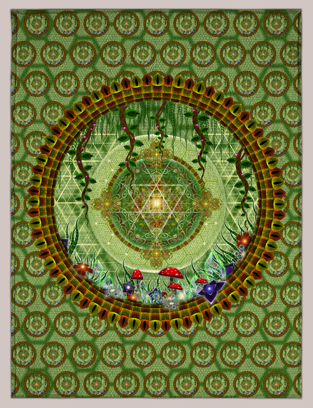 Entheopassage Symbio Blanket - Tetramode® | Psy Styles. Men & Womens Psychedelic Tops & Bottoms
