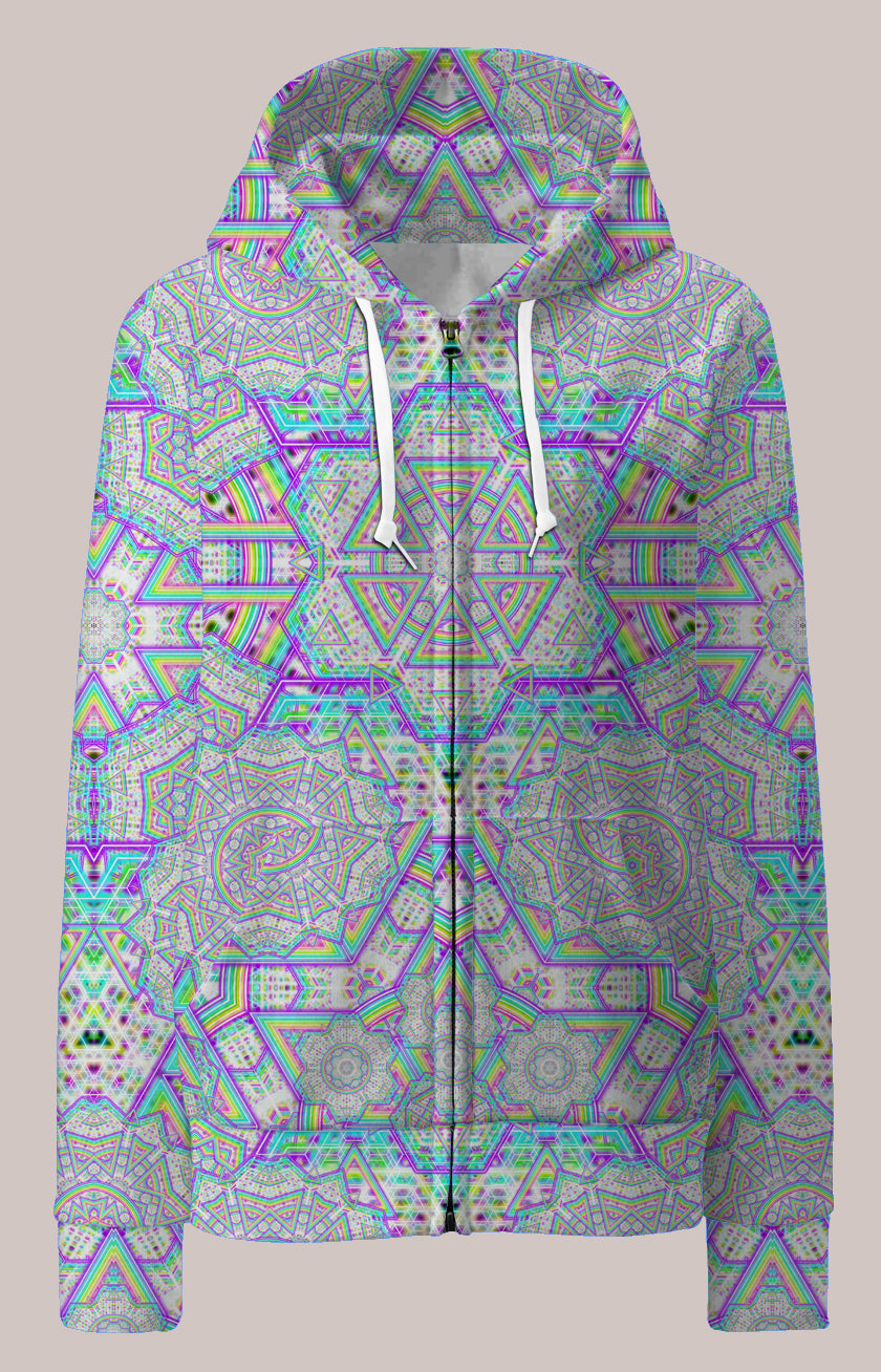 Enon Psychedelic Womens Designer Hoodie - Tetramode® | Psy Styles. Men & Womens Psychedelic Tops & Bottoms