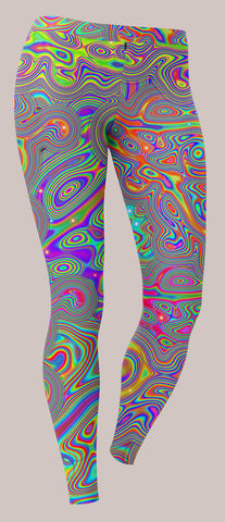 Liquisyrgic Unisex Leggings - Tetramode® | Psy Styles. Men & Womens Psychedelic Tops & Bottoms