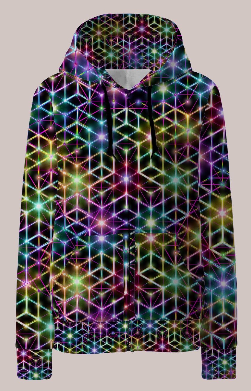 2CB Psychedelic Womens Designer Hoodie - Tetramode® | Psy Styles. Men & Womens Psychedelic Tops & Bottoms