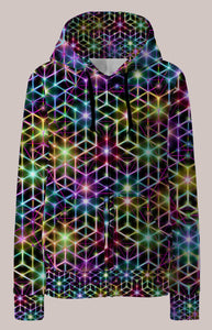 Womens Hoodie, Alexander Shulgin, 2CB, Psychedelic, Rainbow, Trippy, Psychonaut, EDM, Electric Daisy Carnival, Music Festivals