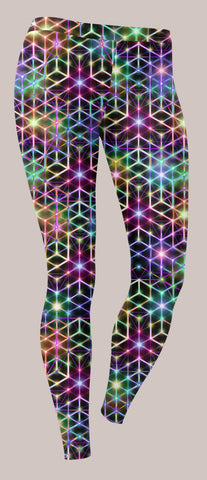 Womens Leggings, Alexander Shulgin, 2CB, Psychedelic, Rainbow, Trippy, Psychonaut, EDM, Electric Daisy Carnival, Music Festivals