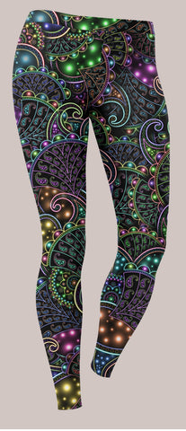 Neopaisley Unisex Leggings - Tetramode® | Psy Styles. Men & Womens Psychedelic Tops & Bottoms