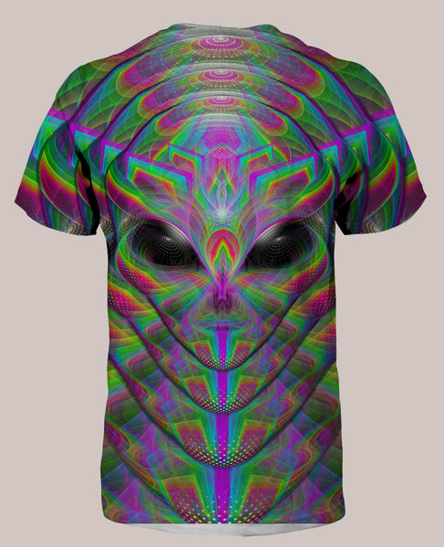 Xenoethesia :: Men's All-Over Psychedelic Alien Terrence McKenna Shirt (Back)