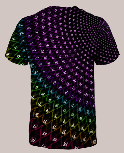 Sahasrara :: Men's All-Over Psychedelic Chakra Shirt - Tetramode® | Psy Styles. Men & Womens Psychedelic Tops & Bottoms