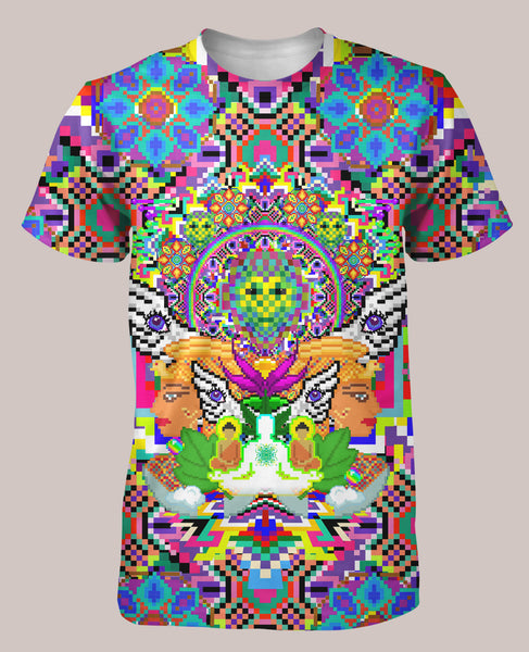 8-Bit Trip: Mens // ALL-OVER PRINT SHIRT - Tetramode® | Psy Styles. Men & Womens Psychedelic Tops & Bottoms