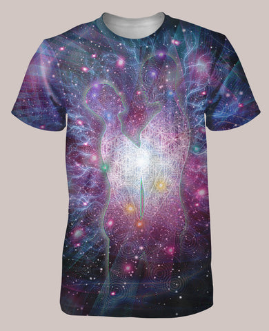 Twin Flames Men's All-Over print Shirt - Tetramode® | Psy Styles. Men & Womens Psychedelic Tops & Bottoms