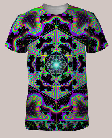 Microgram :: Psychedelic Men's All-Over Print Geometry Shirt (Front)
