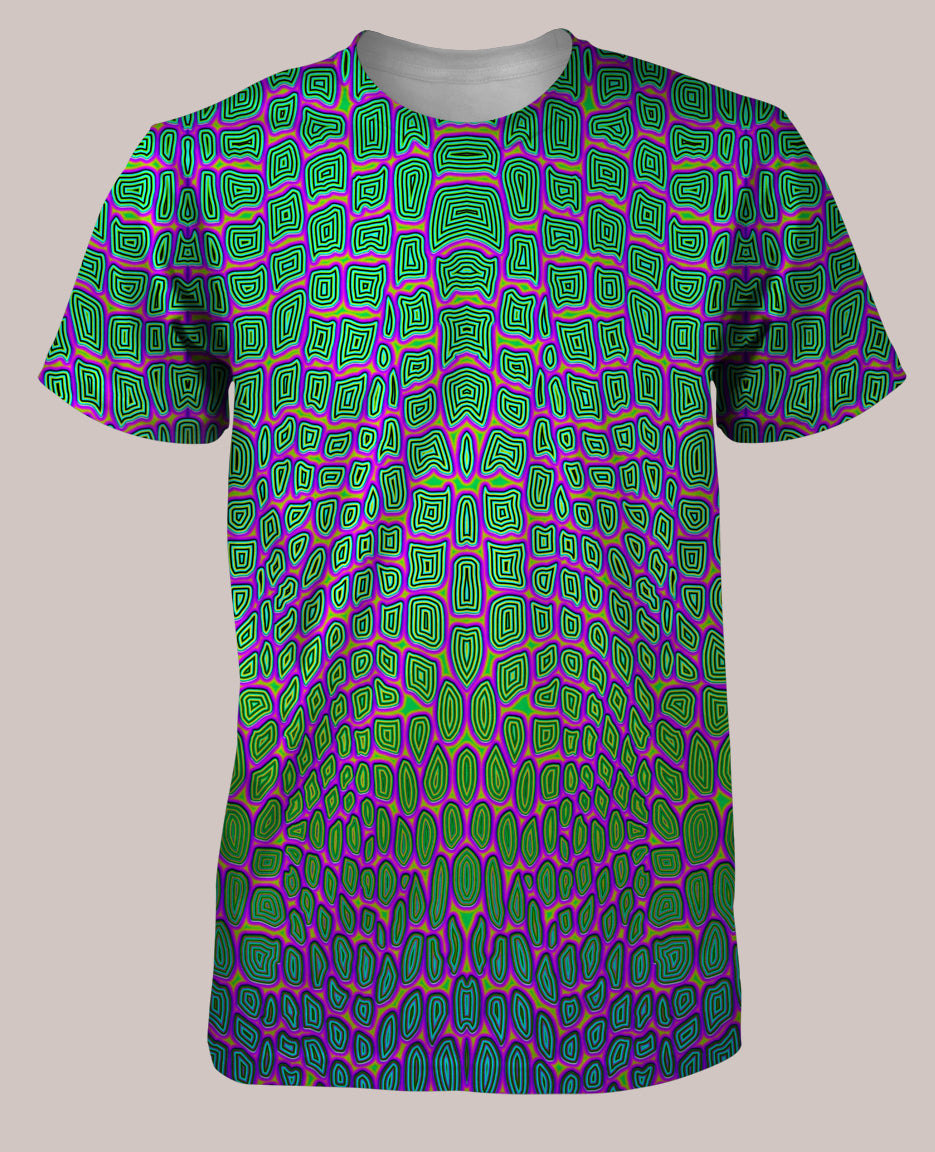 Reptilian :: Psychedelic Men's All-Over Print Reptile Shirt - Tetramode® | Psy Styles. Men & Womens Psychedelic Tops & Bottoms