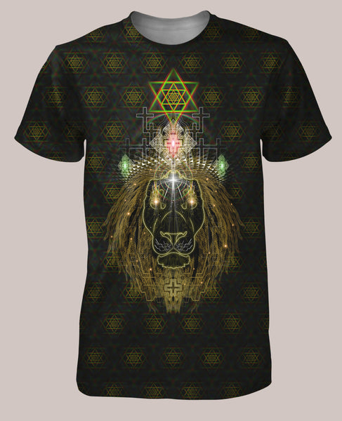 Lion Heart Men's All-Over print Shirt - Tetramode® | Psy Styles. Men & Womens Psychedelic Tops & Bottoms