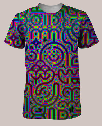 Psylingual Men's All-Over print Shirt - Tetramode® | Psy Styles. Men & Womens Psychedelic Tops & Bottoms