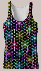 Womens Tank Top, Alexander Shulgin, 2CB, Psychedelic, Rainbow, Trippy, Psychonaut, EDM, Electric Daisy Carnival, Music Festivals