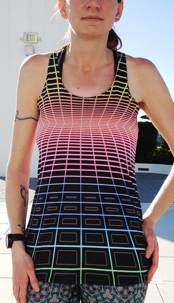 LoFi : Womens // HELIOS TANK TOP - Tetramode® | Psy Styles. Men & Womens Psychedelic Tops & Bottoms
