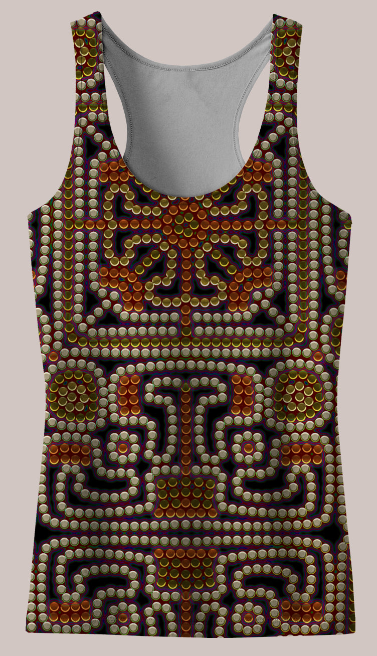 Kahatsa : Womens // HELIOS TANK TOP - Tetramode® | Psy Styles. Men & Womens Psychedelic Tops & Bottoms