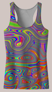 Liquisyrgic : Womens // HELIOS TANK TOP - Tetramode® | Psy Styles. Men & Womens Psychedelic Tops & Bottoms
