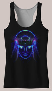 Telepathy : Womens // HELIOS TANK TOP - Tetramode® | Psy Styles. Men & Womens Psychedelic Tops & Bottoms