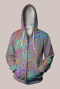 Liquisyrgic Trippy Designer Hoodie (Unisex) - Tetramode® | Psy Styles. Men & Womens Psychedelic Tops & Bottoms