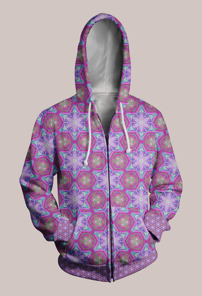 Entheoelectric Psychedelic Designer Hoodie (Unisex) - Tetramode® | Psy Styles. Men & Womens Psychedelic Tops & Bottoms