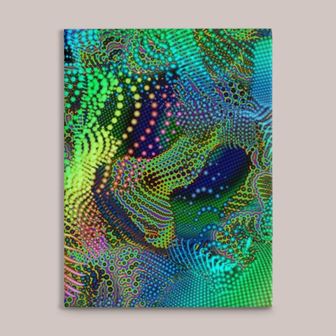 Sub-Surface Fine Art Canvas Print - Tetramode® | Psy Styles. Men & Womens Psychedelic Tops & Bottoms