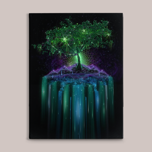 Tree of Life Fine Art Canvas Print - Tetramode® | Psy Styles. Men & Womens Psychedelic Tops & Bottoms