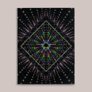 Lightspeed Fine Art Canvas Print - Tetramode® | Psy Styles. Men & Womens Psychedelic Tops & Bottoms