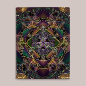 Mycelia Fine Art Canvas Print - Tetramode® | Psy Styles. Men & Womens Psychedelic Tops & Bottoms