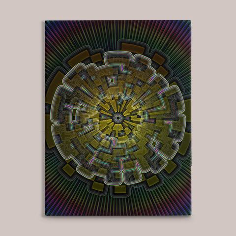 Centrifuge Fine Art Canvas Print - Tetramode® | Psy Styles. Men & Womens Psychedelic Tops & Bottoms
