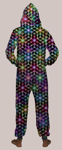 2CB Hooded Younique Onesie - Tetramode® | Psy Styles. Men & Womens Psychedelic Tops & Bottoms