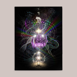 Satori Fine Art Canvas Print - Tetramode® | Psy Styles. Men & Womens Psychedelic Tops & Bottoms
