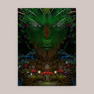 Arcadia Fine Art Canvas Print - Tetramode® | Psy Styles. Men & Womens Psychedelic Tops & Bottoms