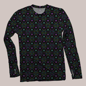 Triesselation Men's Flux Long Sleeve Shirt - Tetramode® | Psy Styles. Men & Womens Psychedelic Tops & Bottoms
