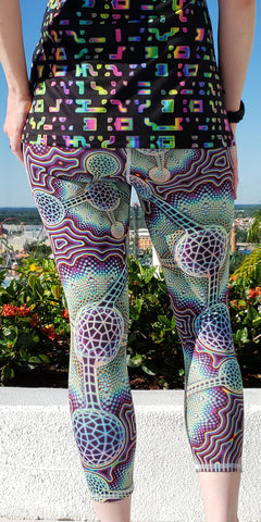 Microverse Crop Leggings - Tetramode® | Psy Styles. Men & Womens Psychedelic Tops & Bottoms