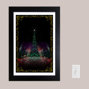 "LIMITED EDITION Oh Christmas Tree 13x19"" Signed Psychedelic Holiday Print"