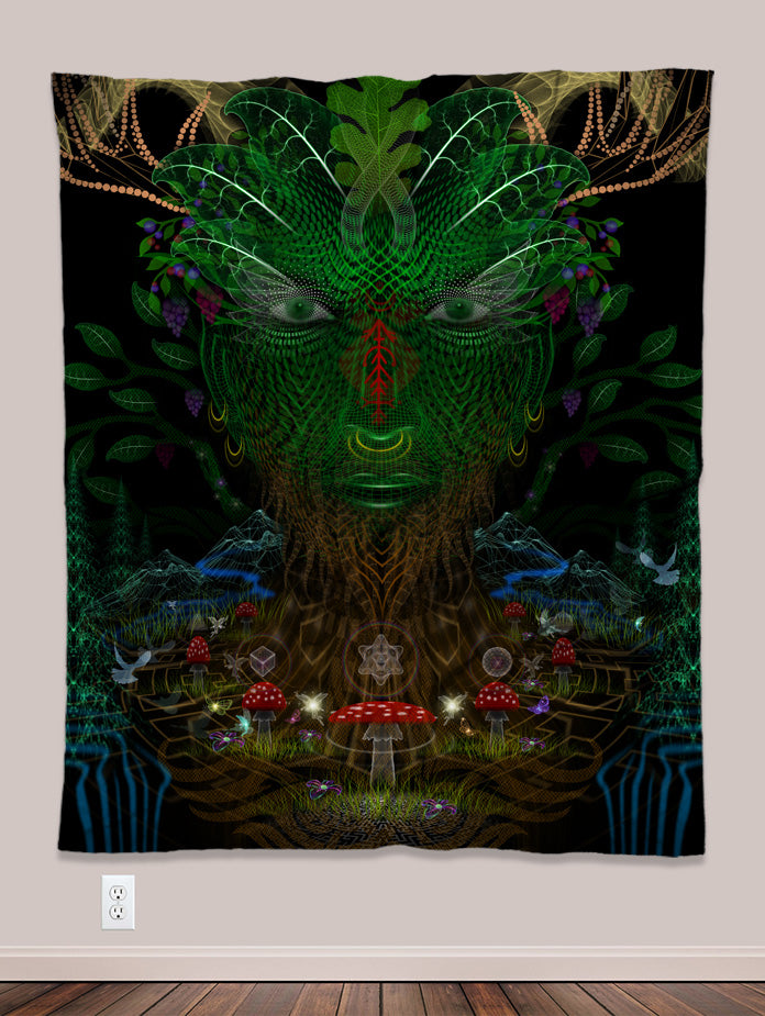 Arcadia Psychedelic UV-Reactive Tapestry (50x60in) - Tetramode® | Psy Styles. Men & Womens Psychedelic Tops & Bottoms