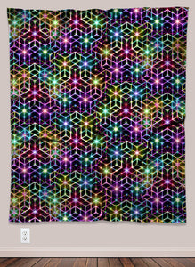 Geometric Rainbow UV-Reactive Psychedelic Wall Art