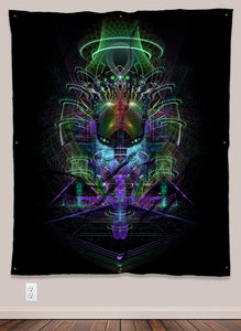 Breakthough Psychedelic UV-Reactive Tapestry by Visionary Artist Samuel Farrand