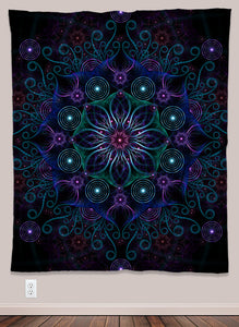 Bubble Flower Psychedelic UV-Reactive Tapestry (50x60in) - Tetramode® | Psy Styles. Men & Womens Psychedelic Tops & Bottoms