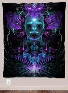 Cyberdelic Psychedelic UV-Reactive Tapestry (50x60in) - Tetramode® | Psy Styles. Men & Womens Psychedelic Tops & Bottoms